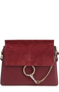 Кожаная сумка Faye с отделкой из замши Chloé