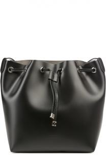 Кожаная сумка bucket с косметичкой Coccinelle