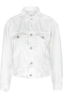 Джинсовая укороченная куртка с потертостями Denim&Supply by Ralph Lauren
