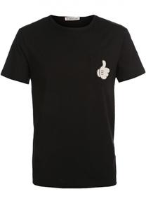 Хлопковая футболка с нашивкой Moncler