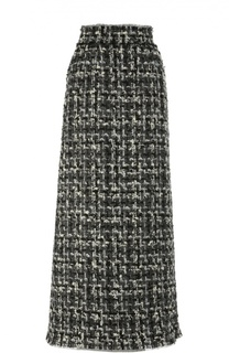 Буклированная юбка-макси прямого кроя Dolce & Gabbana
