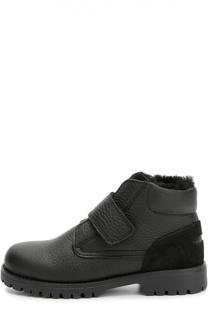 Утепленные кожаные ботинки Dolce & Gabbana