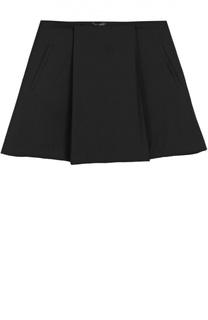 Шерстяная юбка со складками Dal Lago