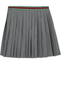 Шерстяная юбка со складками Gucci