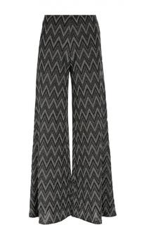 Широкие вязаные брюки с металлизированной отделкой M Missoni