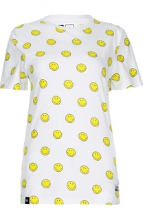 Удлиненная футболка прямого кроя с ярким принтом Dedicated