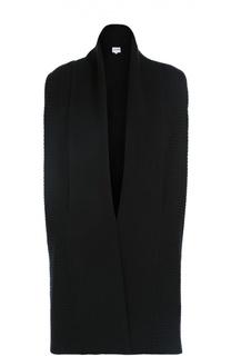 Шерстяной удлиненный жилет фактурной вязки Armani Collezioni