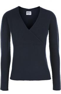 Шерстяной пуловер с V-образным вырезом Armani Collezioni