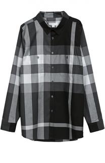 Хлопковая рубашка с нагрудными карманами Burberry