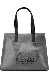 Металлизированная сумка-тоут Tiger large Kenzo