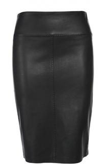 Кожаная юбка Armani Collezioni