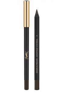 Карандаш для глаз Dessin Du Regard Waterproof, 02 Brun Danger YSL