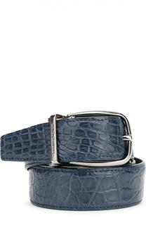 Ремень из кожи крокодила Dolce & Gabbana