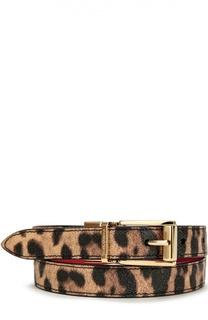 Ремень с леопардовым принтом Dolce & Gabbana