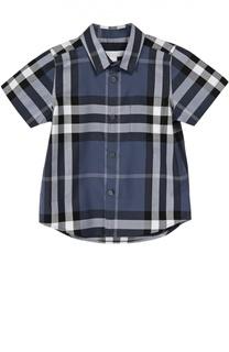 Хлопковая рубашка с короткими рукавами Burberry