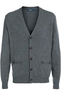 Шерстяной кардиган с карманами Polo Ralph Lauren