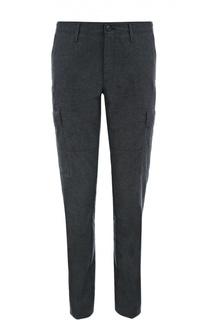 Хлопковые брюки прямого кроя с накладными карманами Polo Ralph Lauren