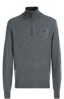 Шерстяной свитер с воротником на молнии Polo Ralph Lauren