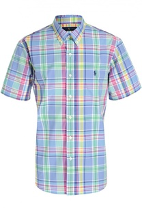 Хлопковая рубашка  с короткими рукавами Polo Ralph Lauren