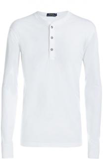 Хлопковая футболка хенли с длинными рукавами Polo Ralph Lauren