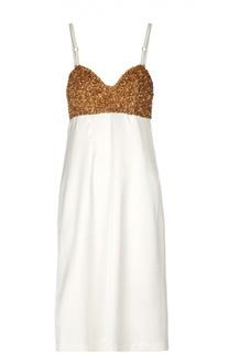 Вечернее платье-комбинация с пайетками Dries Van Noten