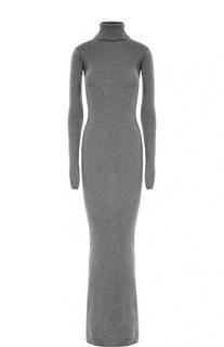 Облегающее платье-макси с длинным рукавом и высоким воротником Stella McCartney