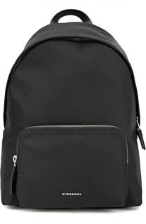 Рюкзак с кожаной отделкой и внешним карманом на молнии Burberry