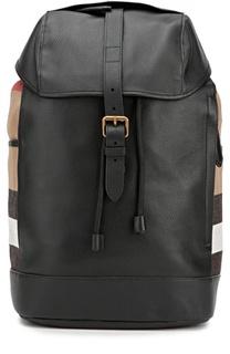 Текстильный рюкзак с кожаной отделкой Burberry