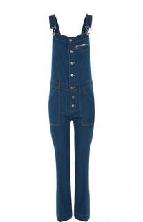 Укороченный джинсовый комбинезон с накладными карманами Stella McCartney