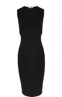 Платье-футляр без рукавов с декоративной шнуровкой Givenchy