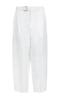 Укороченные брюки прямого кроя с врезными карманами и поясом Polo Ralph Lauren