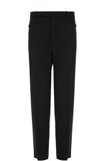 Шерстяные брюки свободного кроя с карманами на молнии Balenciaga