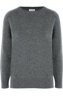 Кашемировый пуловер свободного кроя со спущенным рукавом Saint Laurent