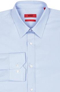 Хлопковая сорочка с классическим воротником HUGO