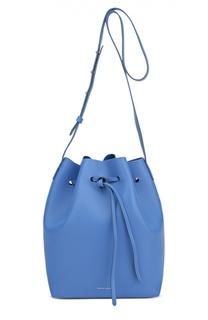 Кожаная сумка на шнурке Bucket Bag с косметичкой Mansur Gavriel