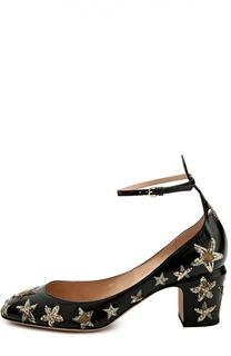 Кожаные туфли Tan-go с декором Valentino