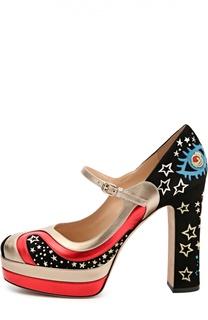 Замшевые туфли Astro Couture с кожаными вставками Valentino