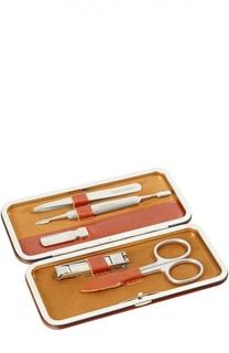 Светло-коричневый маникюрный набор из 5 предметов в кожаном чехле Truefitt&Hill Truefitt&Hill