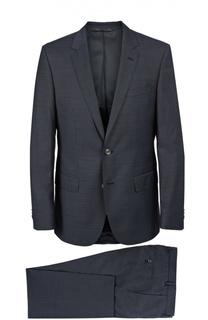 Приталенный костюм из фактурной шерсти BOSS