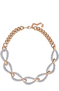 Широкое ожерелье Every Links Swarovski