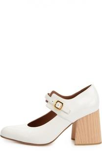 Лаковые туфли на фигурном каблуке Marni