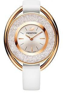 Наручные часы Crystalline Oval с кожаным ремешком Swarovski