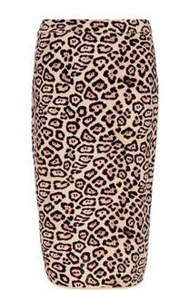 Юбка-карадаш с леопардовым принтом Givenchy