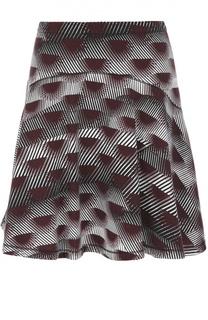 Расклешенная мини-юбка с принтом Kenzo