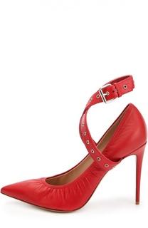 Кожаные туфли Love Latch с ремешками Valentino