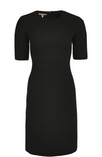 Шерстяное приталенное платье с коротким рукавом Michael Kors