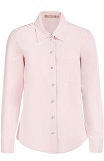 Блуза прямого кроя с накладным карманом Michael Kors