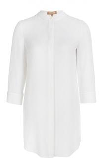 Прямая удлиненная блуза с воротником-стойкой Michael Kors