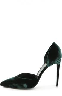 Бархатные туфли Paris Skinny на шпильке Saint Laurent