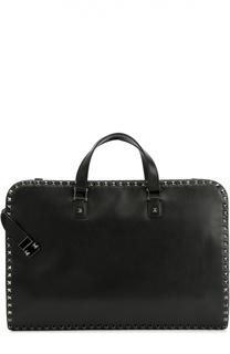 Кожаный портфель Rockstud с плечевым ремнем Valentino